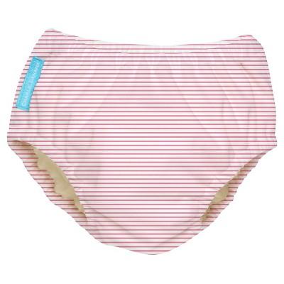 Charlie Banana Reusable Swim Diaper, Pink Stripe - L