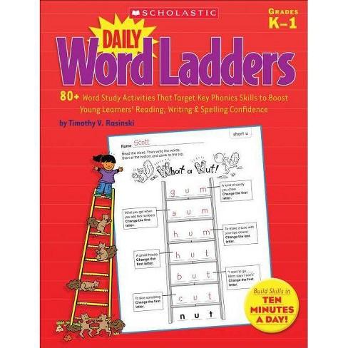 Daily Word Ladders, Grades K-1 - by  Timothy Rasinski (Paperback) - image 1 of 1