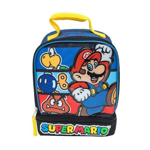 Super Mario Dual Compartment Lunch Bag Blue