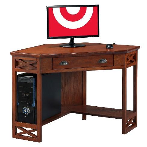 Corner Desk Oak - Leick Home - image 1 of 11