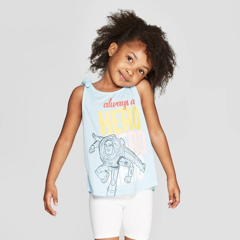 Toddler Girls' Toy Story Buzz Lightyear Tank Top - Sky Blue - image 1 of 3