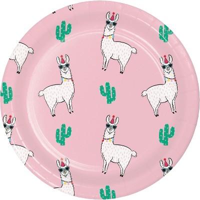 10ct Llama Snack Paper Plates - Spritz™