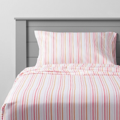 Rainbow Microfiber Striped Sheet Set - Pillowfort™