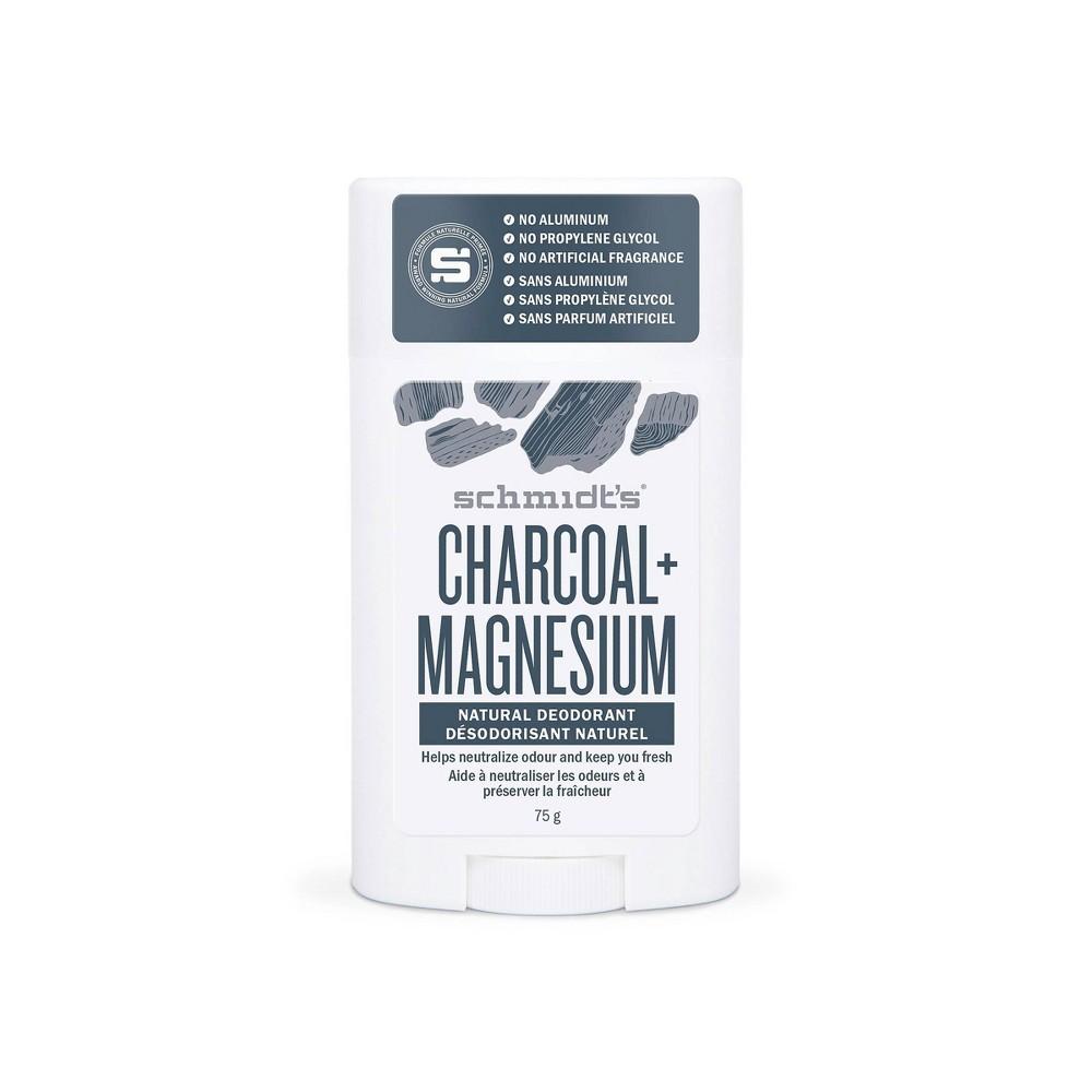 Image of Schmidt's Charcoal + Magnesium Aluminum-Free Natural Deodorant Stick - 2.65oz