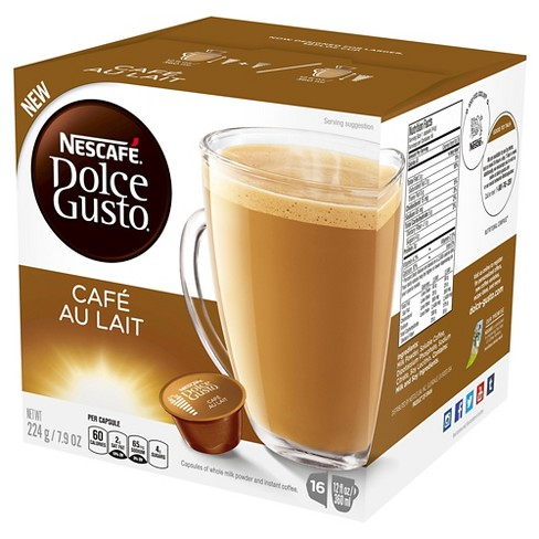 Nescafe Dolce Gusto Cafe Au Lait Medium Roast - Single Serve Pods - 16ct - image 1 of 4