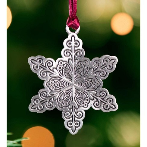 Solid Pewter Christmas Tree Ornament - Plow & Hearth - image 1 of 2