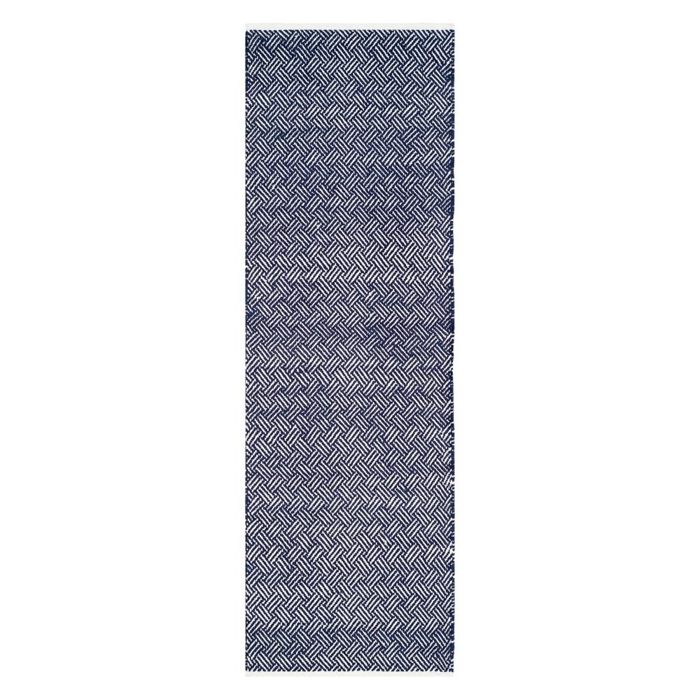 2'3X11' Crosshatch Runner Navy (Blue) - Safavieh