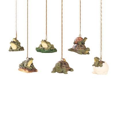 Gallerie II Mini Frog & Turtle Ornament A/6