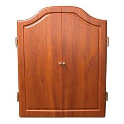 DMI Darts Deluxe Dartboard Cabinet Set - Cherry