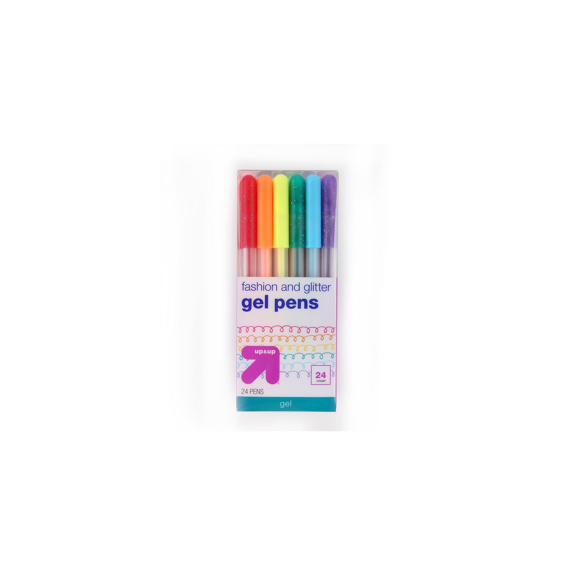 Gel Ink Pens Multicolor Glitter 24ct - Up&Up