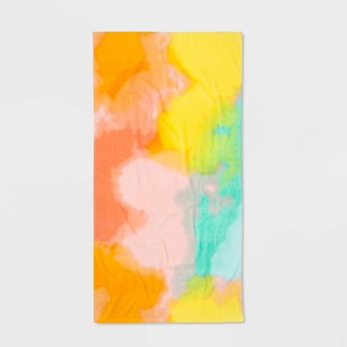 Tie Dye Printed Beach Towel - Sun Squad™ - image 1 of 4