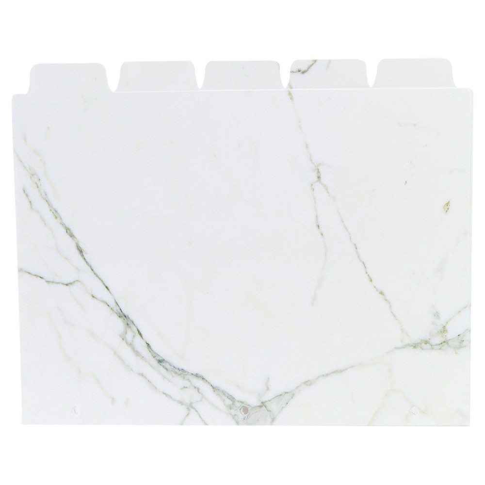 Ubrands 5ct Index Tabs - Marble, Multi-Colored