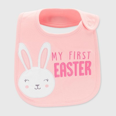 Baby Girls' My First Easter Bib - Just One You® made by carter's Pink One Size