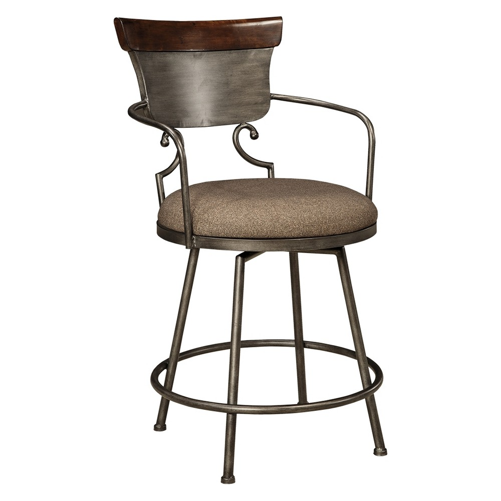 Moriann Tall Uph Barstool TwoTone - Signature Design by Ashley, Brown