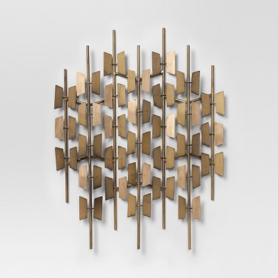 Gold Decorative Wall Sculpture 16.5 X 24 - Project 62™