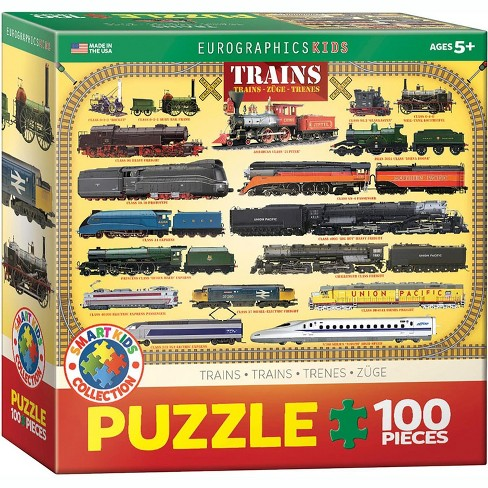 Eurographics Inc. Trains 100 Piece Jigsaw Puzzle - image 1 of 4