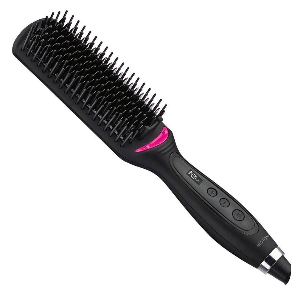 Revlon Salon One Step XL Straightening Heated Hair Brush 4 1/2, Black