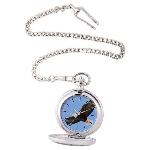 cc7a5da71 Men's EWatchfactory Eagle Pocket Watch - Silver : Target