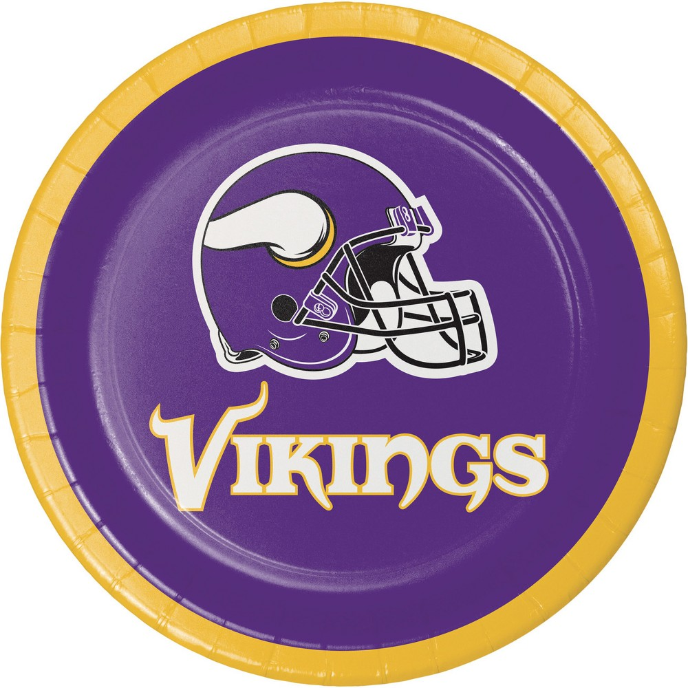 24ct Minnesota Vikings Dessert Plates Purple