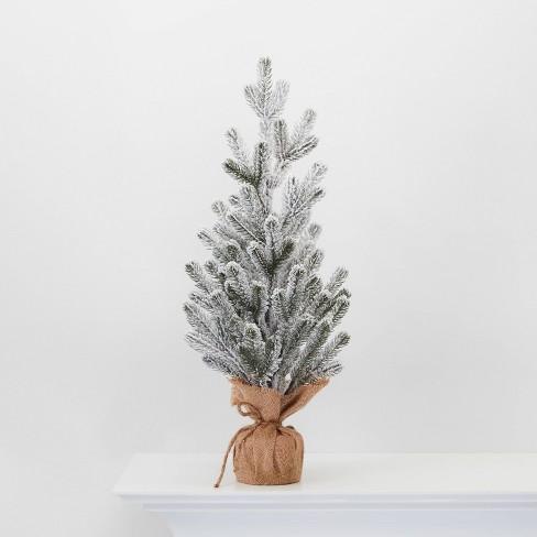 "24"" Burlap Wrapped Plastic Flocked Tree - Wondershop™ - image 1 of 2"