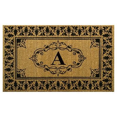 nuLOOM Monogrammed Doormat - Letter A (2' 6  x 4')