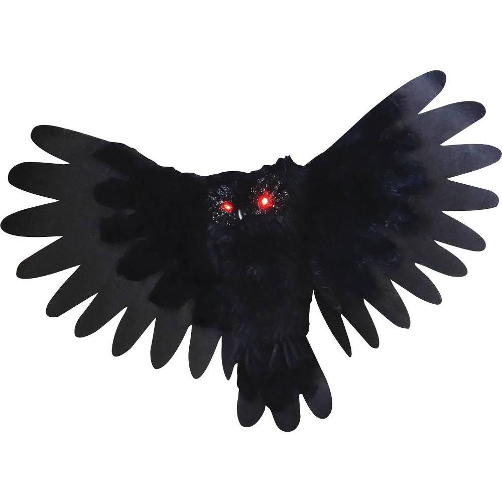 Halloween Animated Owl Decor