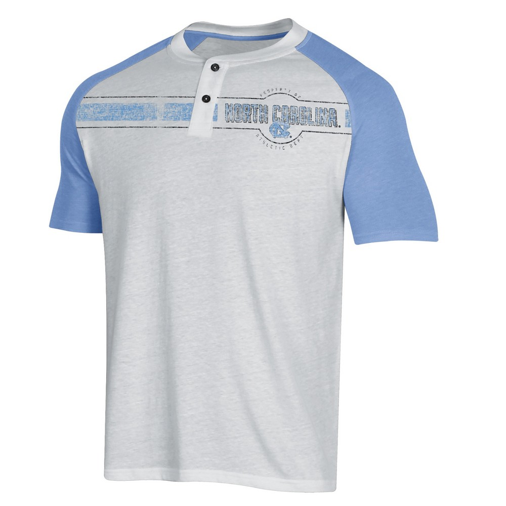NCAA Men's Raglan Henley T-Shirt North Carolina Tar Heels - S, Multicolored
