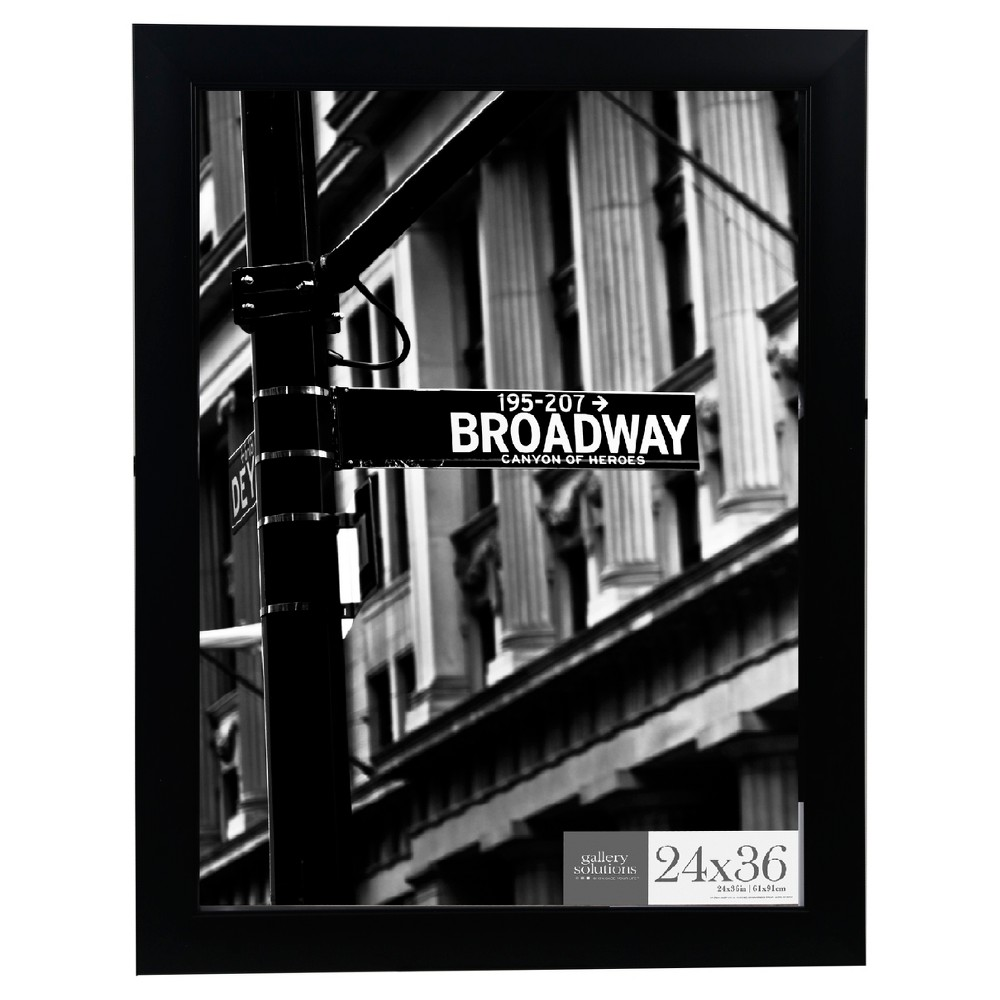 Image of 24X36 Black Flat With Inner Ridge Large Wall Frame - Gallery Perfect