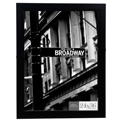 24X36 Black Flat With Inner Ridge Large Wall Frame - Gallery Perfect - image 1 of 3