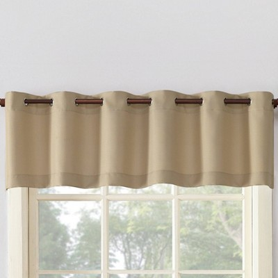 "14""x56"" Montego Casual Textured Grommet Top Kitchen Curtain Valance - No. 918"