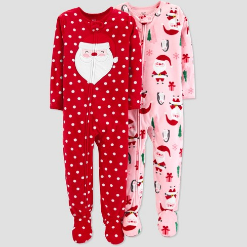 5818f9ad6d Toddler Girls  Fleece Dot Santa Pajama Set - Just One You® made by carter s  Red