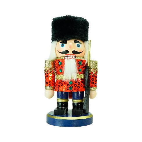 Christmas Nutcracker.Northlight 7 Red Gold And Black Chubby Wooden Christmas Nutcracker Soldier