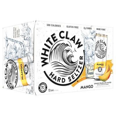 White Claw Mango Hard Seltzer - 12pk/12 fl oz Slim Cans
