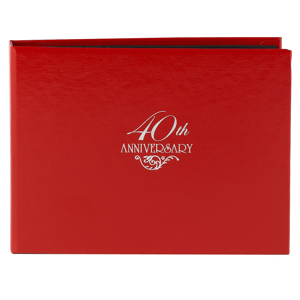 Image of 40th Anniversary Guest Book - Red