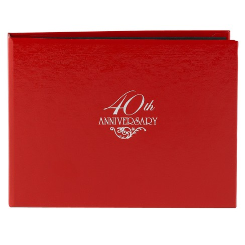 40th Anniversary Guest Book - Red - image 1 of 1