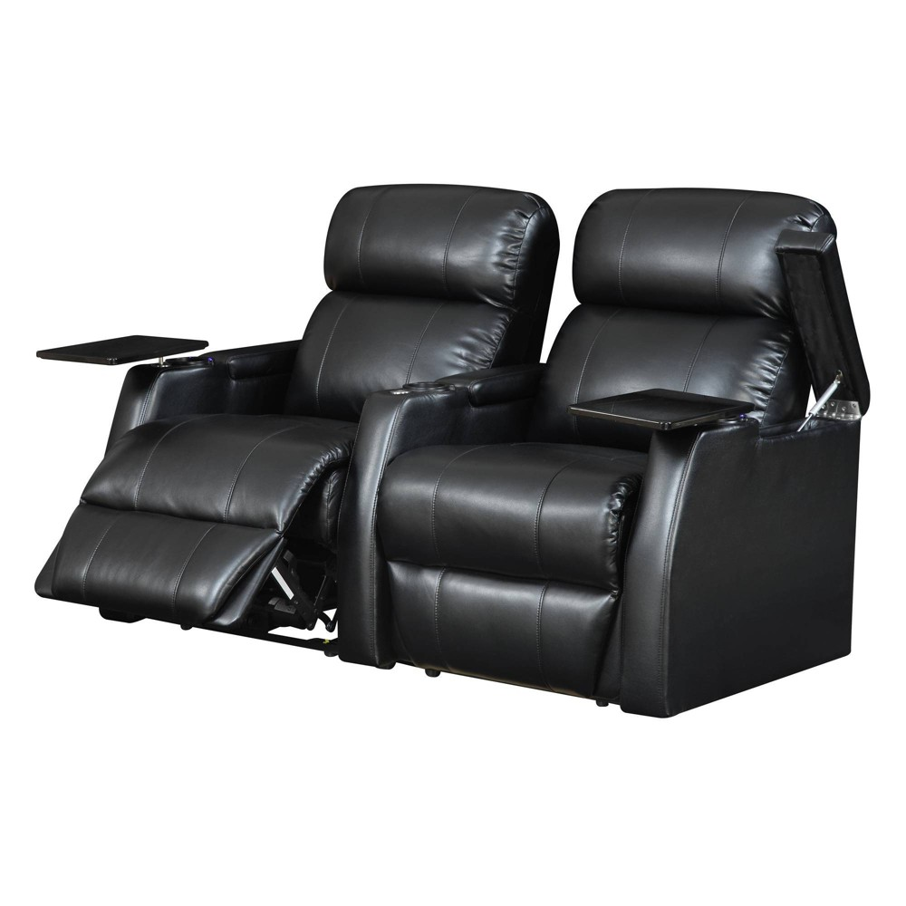 2pc Cecille Power Recliner Set Black - Picket House Furnishings