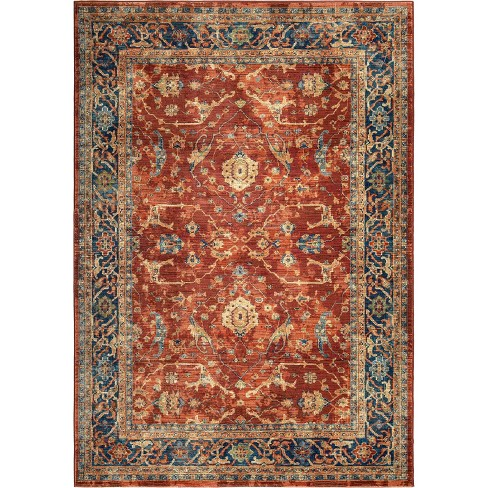 "Red Jacquard Woven Area Rug 5'3""X7'6"" - Orian - image 1 of 11"