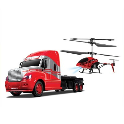 "World Tech Toys Mega Hauler Remote Control Gyro Helicopter and Truck 3.5""- 2pk"