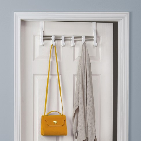 Lynk Over Door Adjustable Hook Accessory Organizer -Scarf, Belt, Hat, Jewelry Hanger - White - image 1 of 4