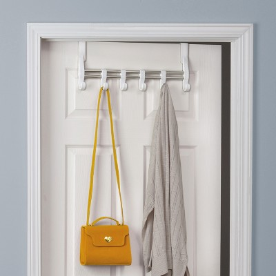 Lynk Over Door Adjustable Hook Accessory Organizer  Scarf, Belt, Hat, Jewelry  Hanger   White : Target