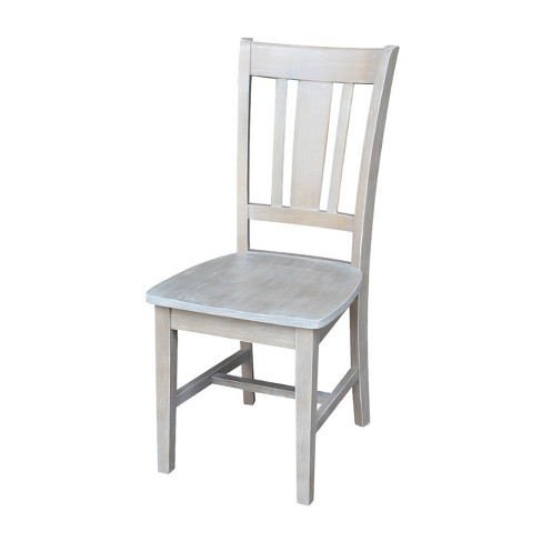 San Remo Splat Back Chair Washed Gray Taupe - International Concepts - image 1 of 4
