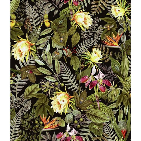 RoomMates Tropical Flowers Peel and Stick Wallpaper - image 1 of 4