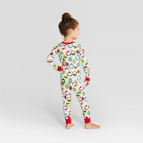 Toddler Peanuts Holiday Pajama Set - White 3T   Target 9b5379c16