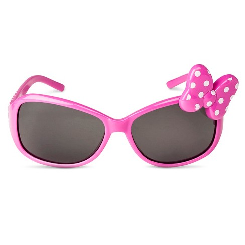Disney® Minnie Mouse Toddler Girls' Oval Sunglasses Hot Pink One Size - image 1 of 2