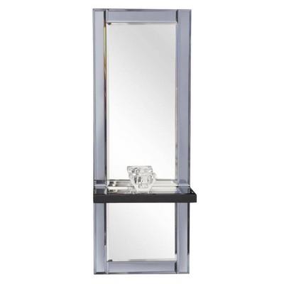 Rectangle Emerson Decorative Wall Mirror Gray - Howard Elliott