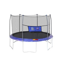 Skywalker Trampolines 12' Round Jump-N-Toss Trampoline with Enclosure - Blue