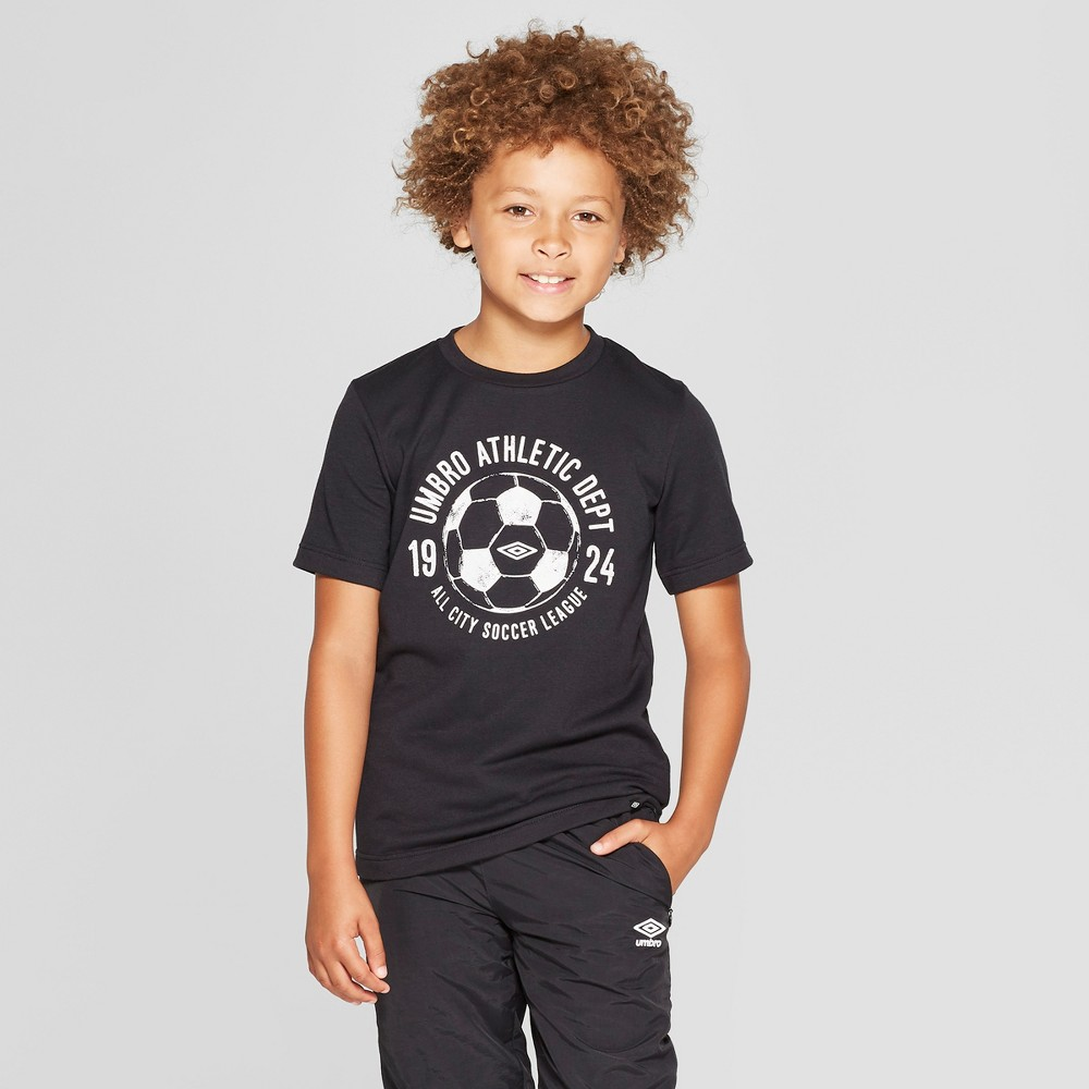 Umbro Boys' French Terry Graphic T-Shirt - Black M