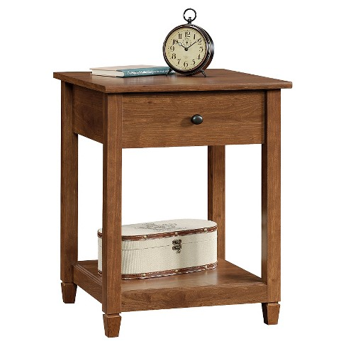 Edge Water Side Table with Drawer and Storage Shelf - Auburn Chery - Sauder - image 1 of 4