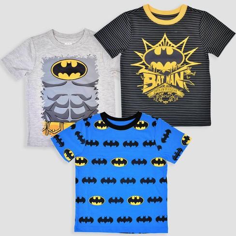55e221a3 Toddler Boys' 3pk DC Comics Batman Short Sleeve T-Shirt - Black/Blue/Gray :  Target