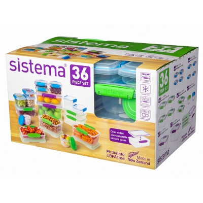 Sistema Multi-Colored Food Storage Canister Set - 36pc